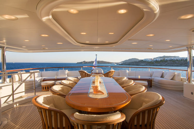 AE Cap d'Antibes deck and dining