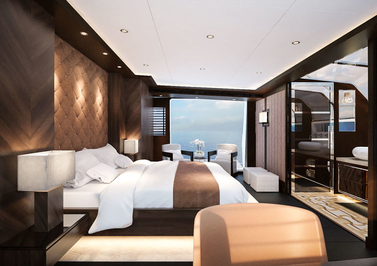 Sirena Yachts 85' project interior design
