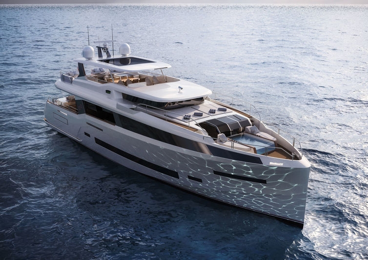 Sirena Yachts 85' project exterior design