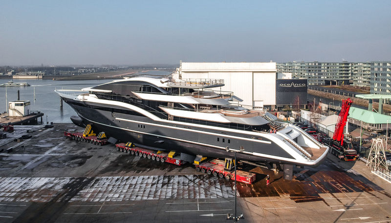Oceanco project 717 launch at the Oceanco yard