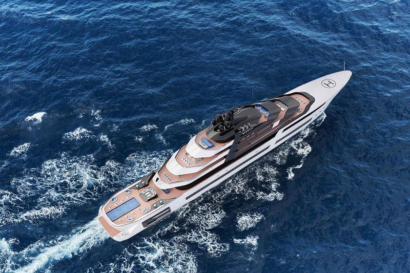 120m superyacht concept RORQUAL from MUB Design