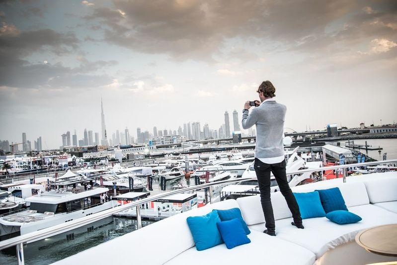 Merijn de Waard at the Dubai International Boat Show 2018
