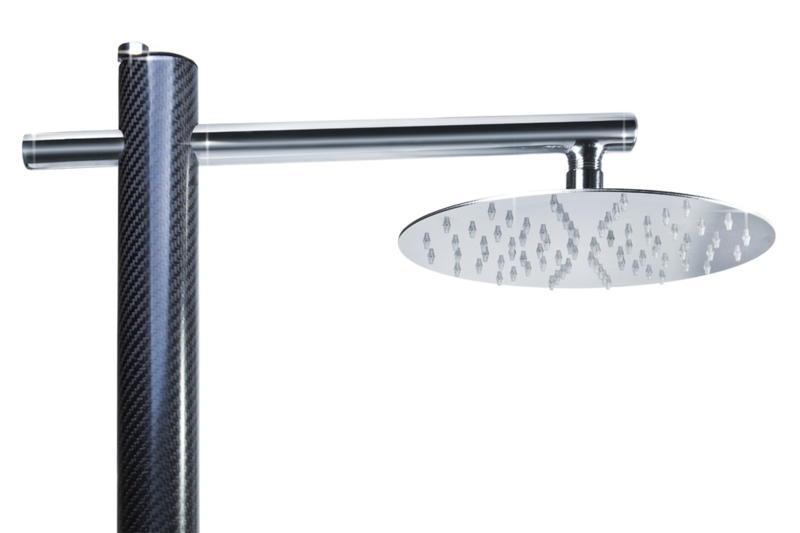 Carbon1 shower from Inoxstyle