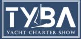 TYBA yacht charter show logo