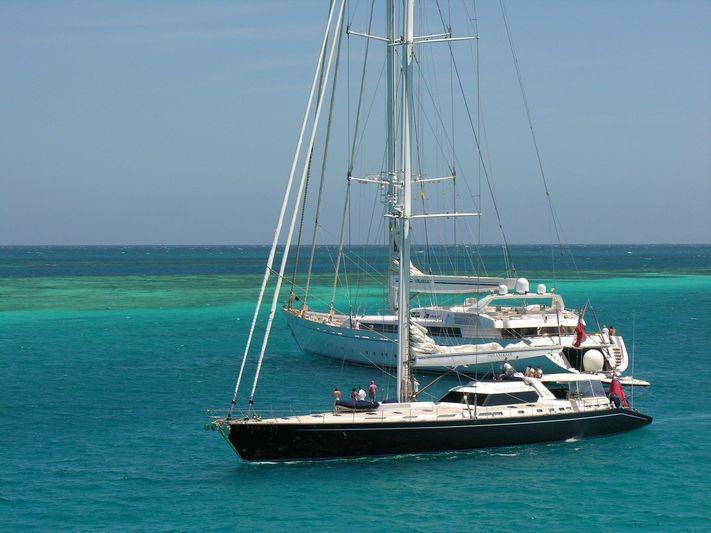 Philanderer and Mirabella V in the Caribbean