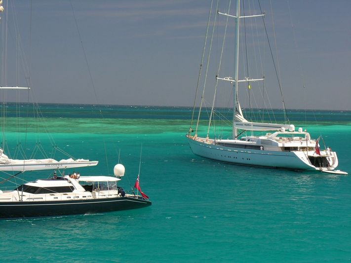 Philanderer and Mirabella V in the Caribbean