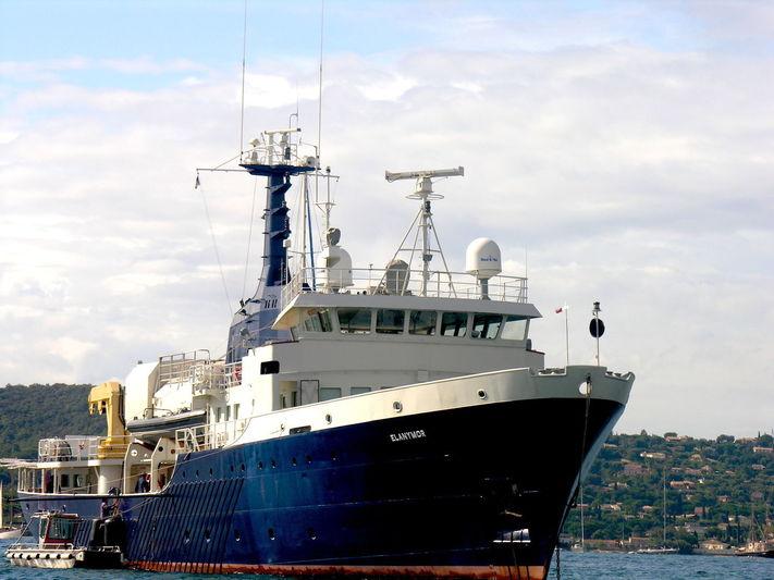 The converted superyacht Elanymor