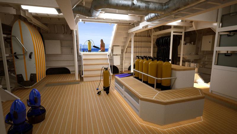 Power Play interior design