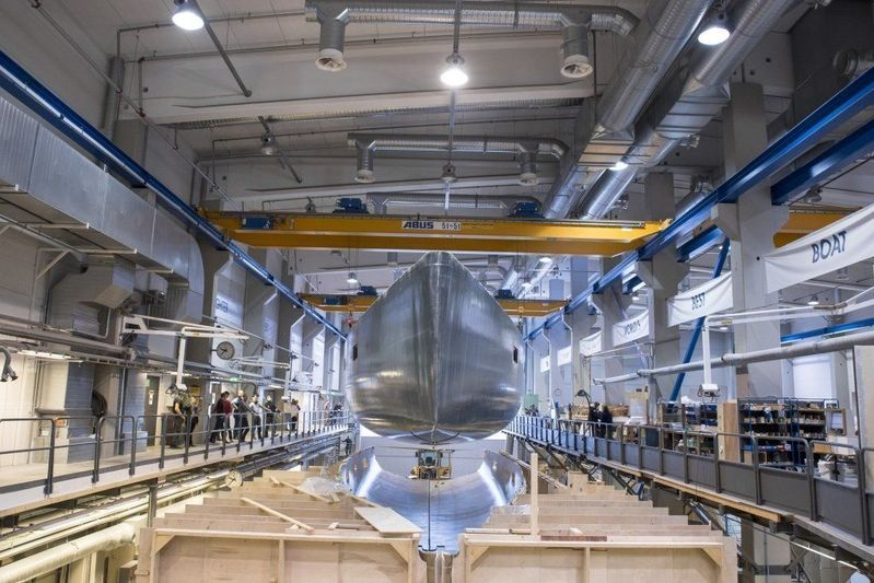 112 fast cruiser in build at Baltic Yachts, Jakobstad