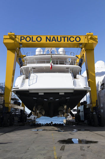 Mangusta Oceano 46/01 launch at Overmarine in Virareggio
