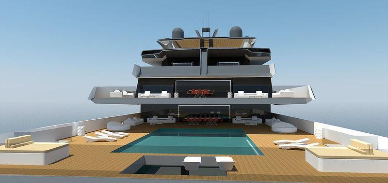 YXXI Yacht Design 127m concept