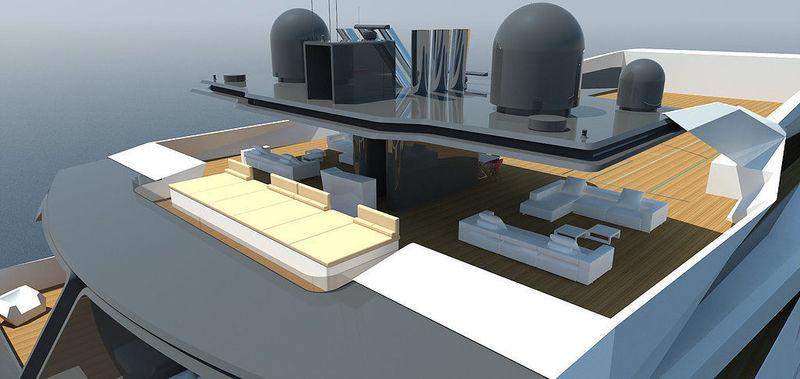 YXXI Yacht Design 120m concept