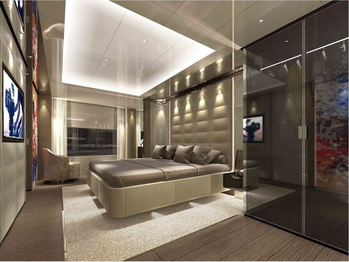 Ferretti Custom Line Project 106 interior design