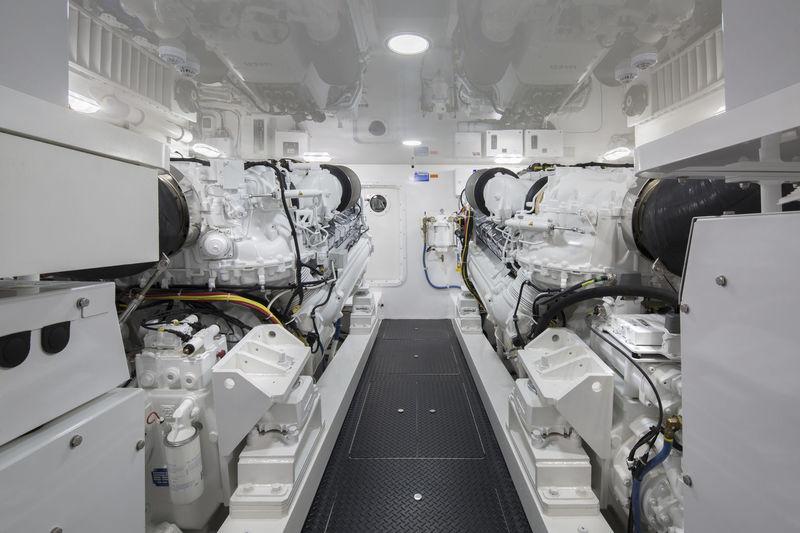 Viking 72 sportsfisher engine room
