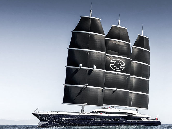 Black Pearl arriving in Gibraltar under sail