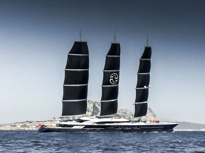 Black Pearl arriving in Gibraltar under sail