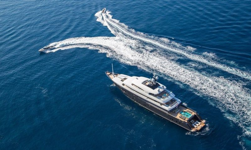 Super yacht Icon anchored