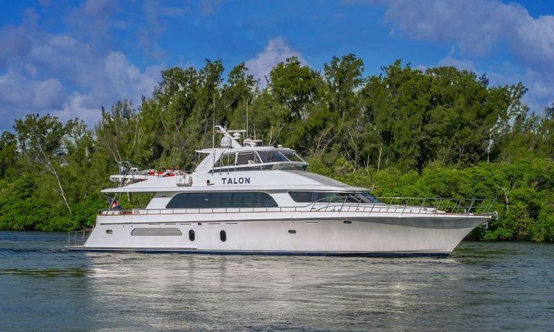 Motor yacht Talon anchored
