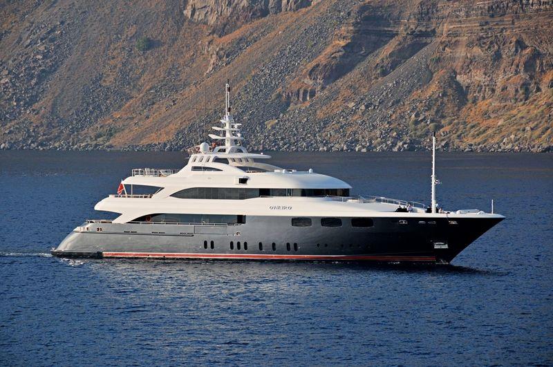 O'Neiro cruising off Santorini