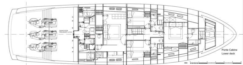 Sanlorenzo SX Layout - Lower Deck
