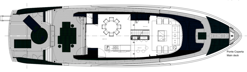 Sanlorenzo SX Layout - Main Deck