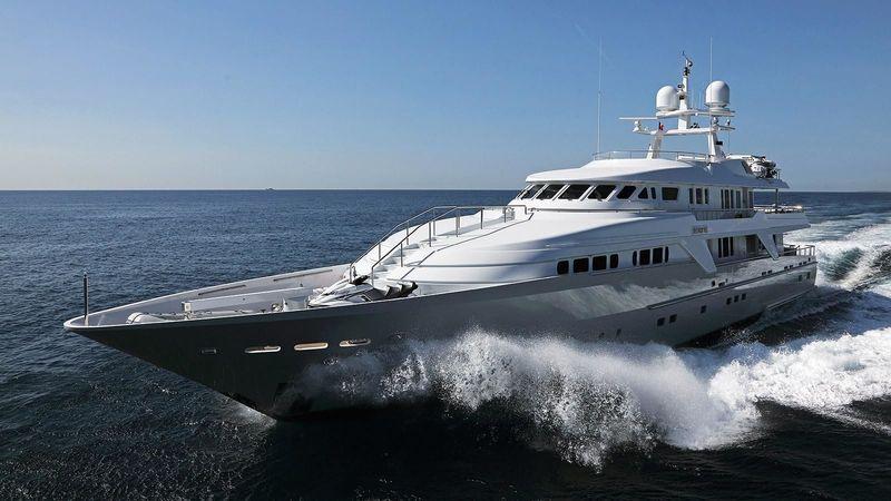 Oceanco superyacht Deep Blue II cruising