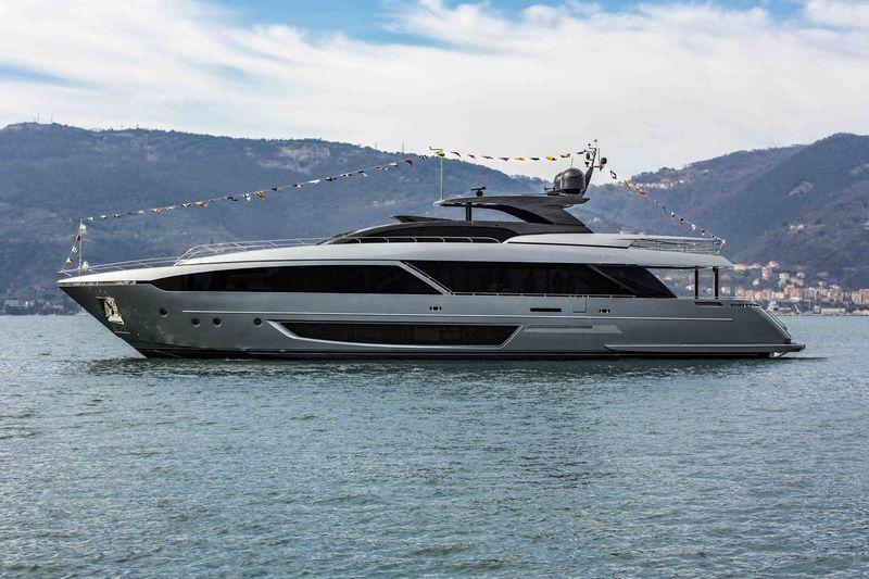 Riva 110 launch in La Spezia