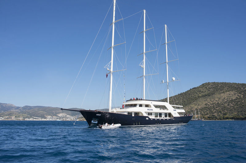 Meira just after her launch at Neta Marine in Bodrum