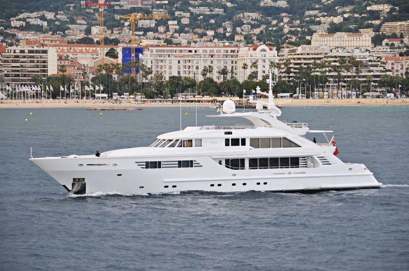 Axioma cruising off Cannes