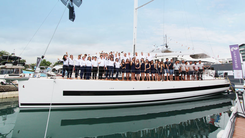 Simpson Marine team at Singapore Yacht Show