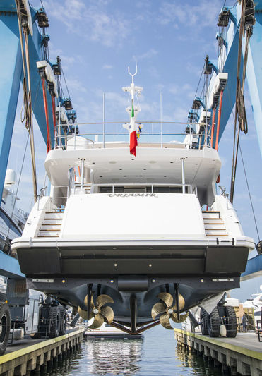 Uriamir launch at Benetti's Viareggio shipyard