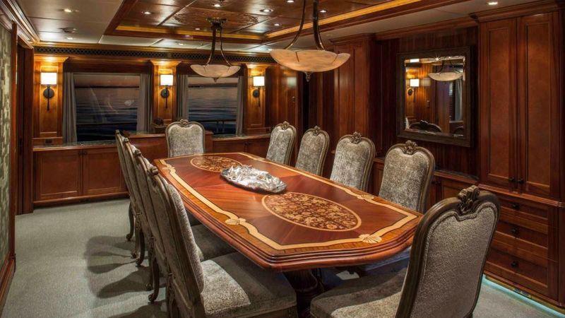 Trinity superyacht Unbridled interior