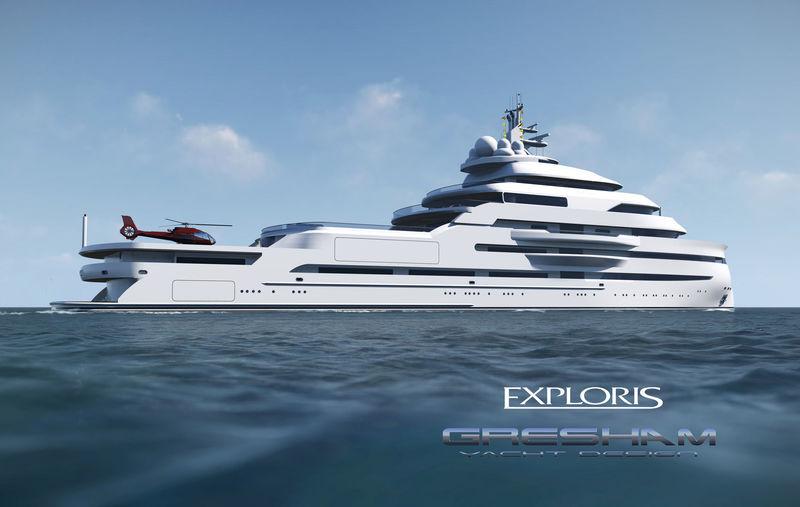 Gresham Yacht Design 100m explorer concept Exploris