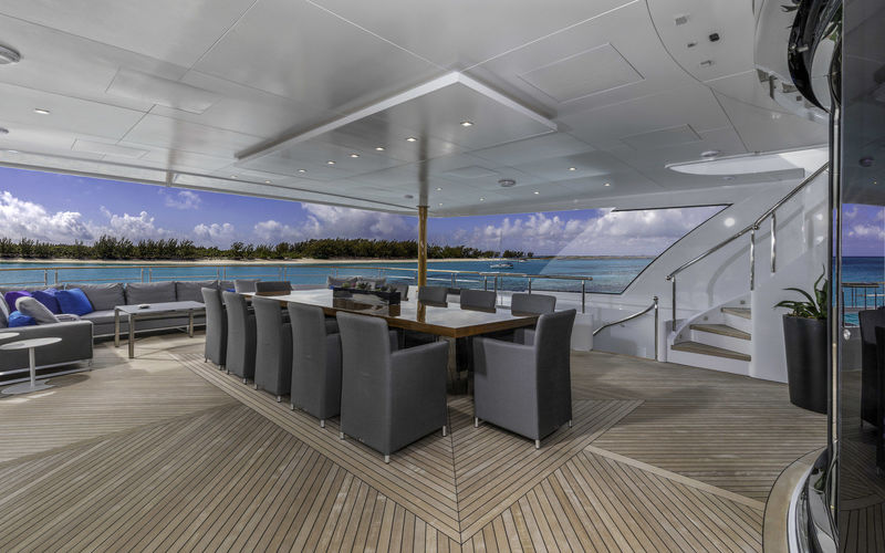 Imagine upper deck dining area