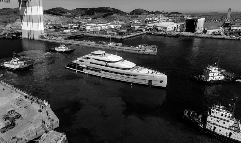 The launch of Pride Mega Yachts 88.5m Illusion Plus in China