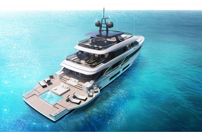 Benetti Oasis 135 exterior design