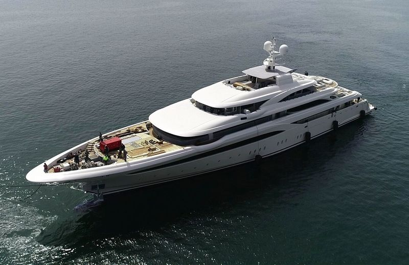 The launch of O'Ptasia at Golden Yachts