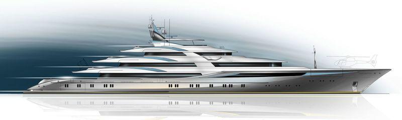 90m Setzer superyacht exterior design