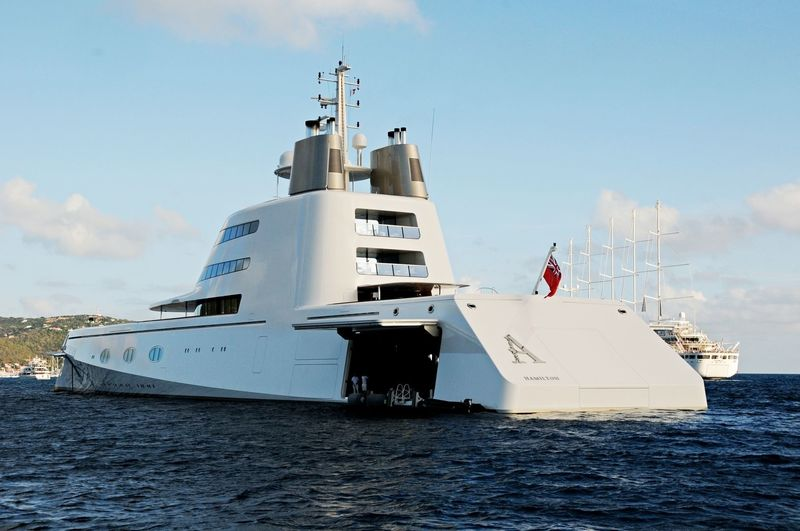 Motor Yacht A in the Caribbean