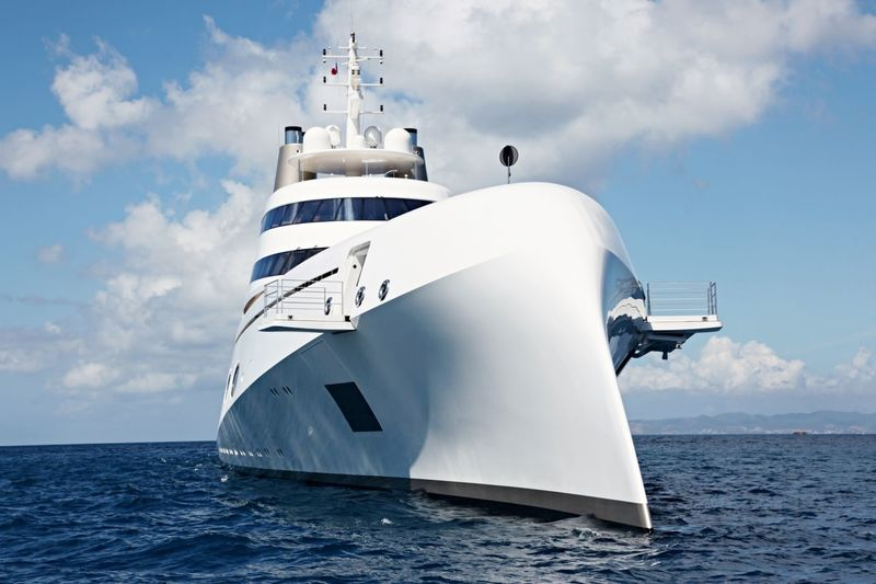 Motor Yacht A in the Caribbean