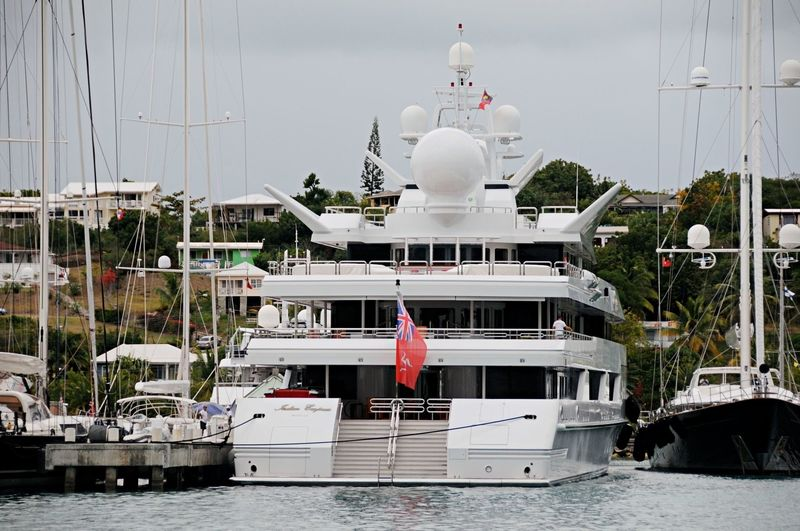 Indian Empress in Antigua Yacht Club marina