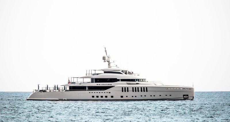 Benetti superyacht Seasense anchored