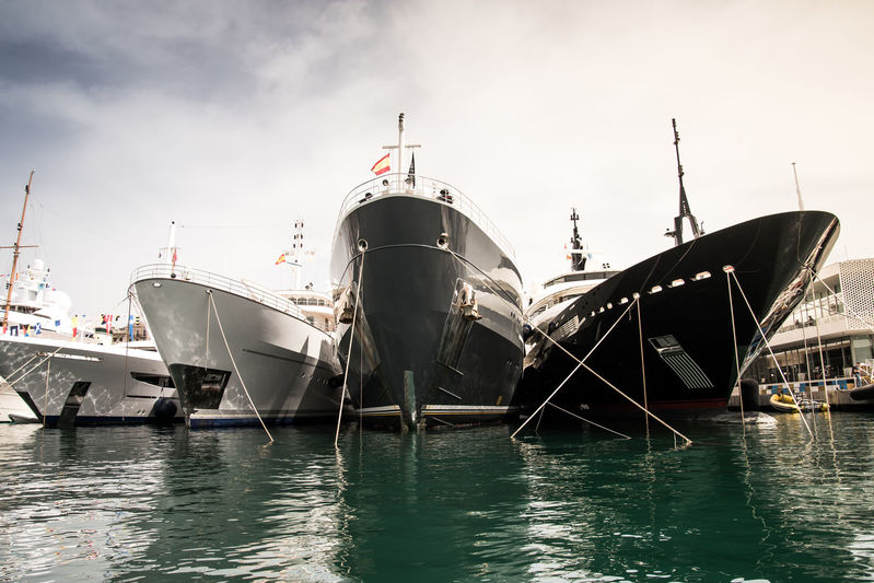 Yachts line up at MYBA 2018