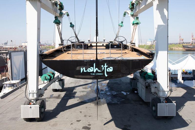 Wally 93 Nahita launch at Performance Boats