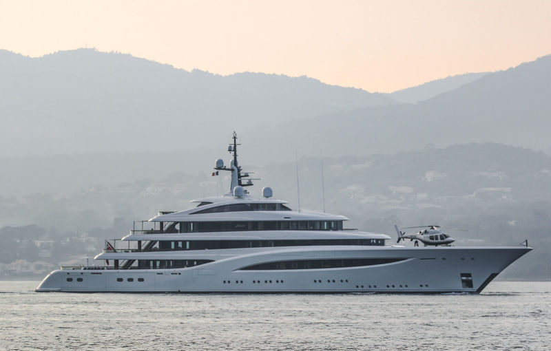 Superyacht Faith on the French Riviera