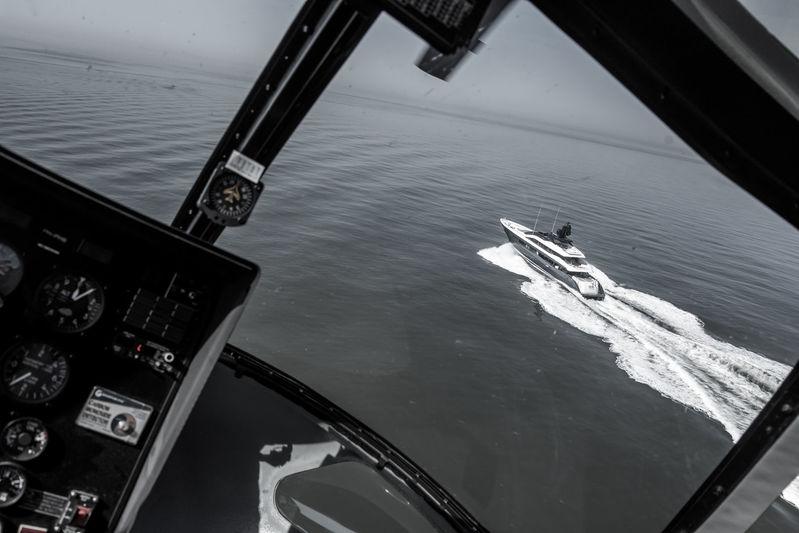 Irisha seatrials helicopter view