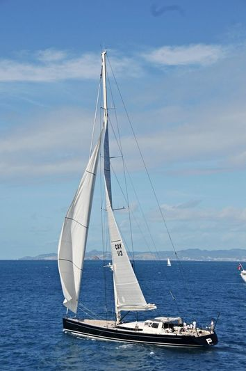 P2 sailing in the Caribbean