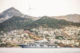 Superyacht Valerie cruising the Turkish Riviera