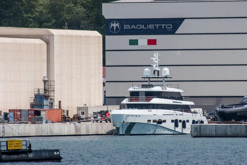 Kanga at the Baglietto shipyard