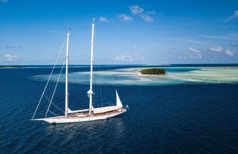 Sailing Yacht Athos world tour 2015 - 2018. Maldives